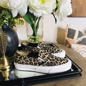 VANS cheetah slip ons 8 women's